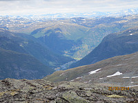 Utsikt oppover dalen