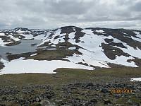 Utsikt fra Sørtoppen mot Kjellarhaugen