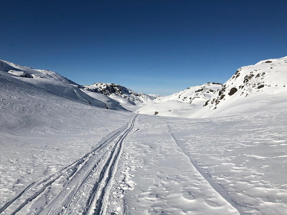 Flott føre innover Søre Fugladalen