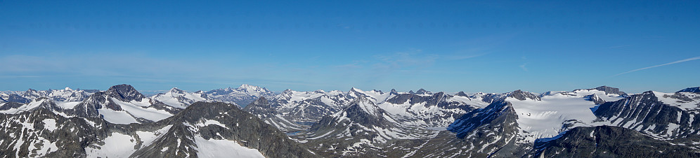 Utsikt fra Norges 11høyeste