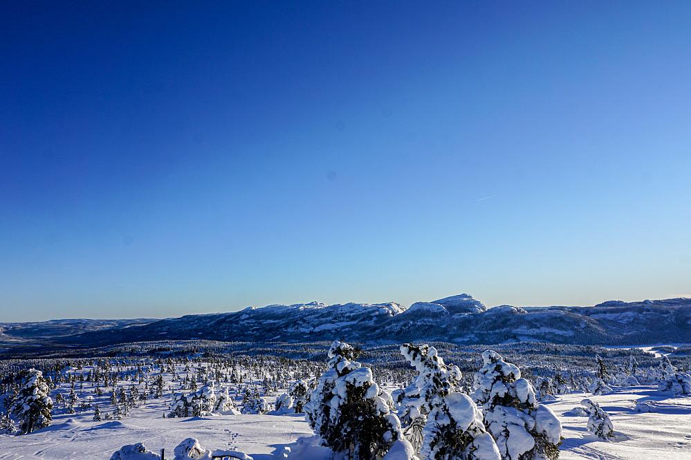 Utsikten fra Sveinsbuvarden. Skrim lengst fremme