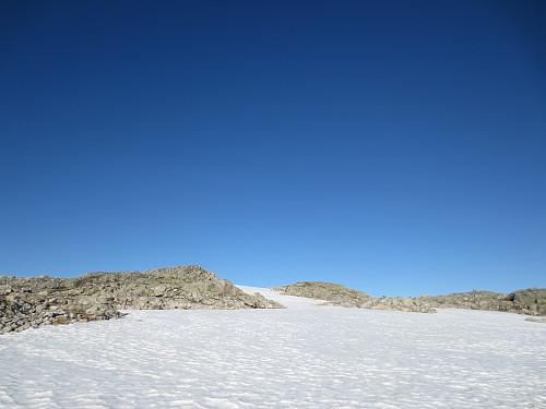 Ganske mye snø igjen på Jutastighorga!
