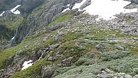 Passerer den øvre kvilebuen på 1140 moh.
