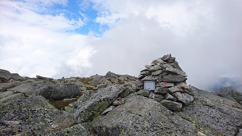 Toppen av Tokheimsnuten, 1346 moh.
