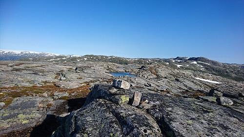Toppen av N for Nordre Krossfonnuten, 1375 moh.