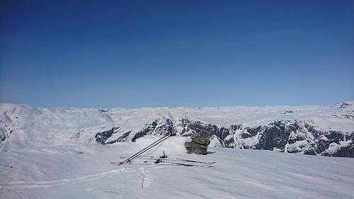 Toppen av Trælhaug, 1416 moh.