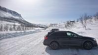 Parkeringsplassen ved Bjørkehaug.