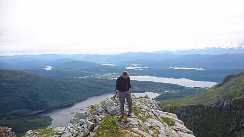 Utsiktspunkt mot vest på Urfjellet.