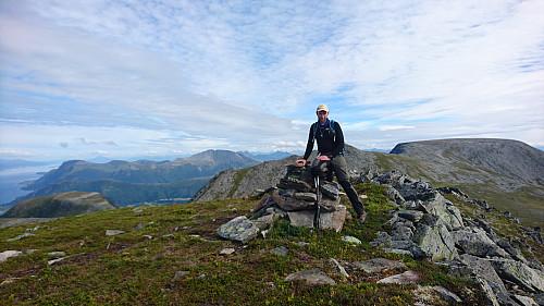 Toppen av Hellandshornet, 882 moh.