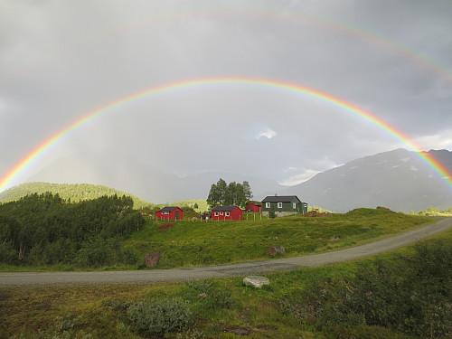 Regnbue over Grytingstølen