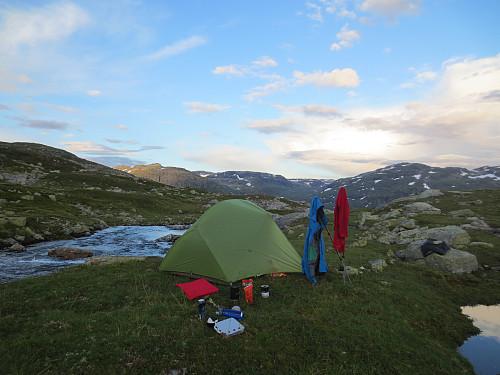 Camp i Holdøledalen, 1080 moh.
