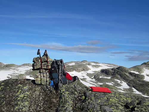 Toppen av Skurvenuten, 1497 moh. Reinsnos bak.