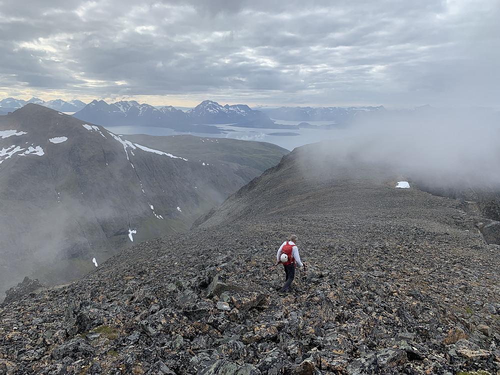 Heading back down the ridge