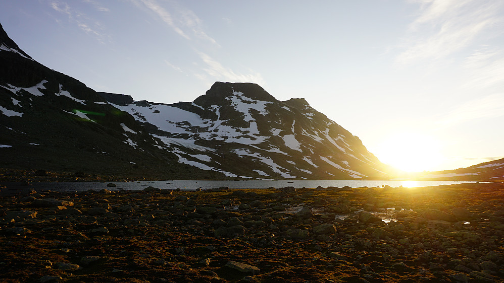 Solnedgang ved Svartdalspiggene