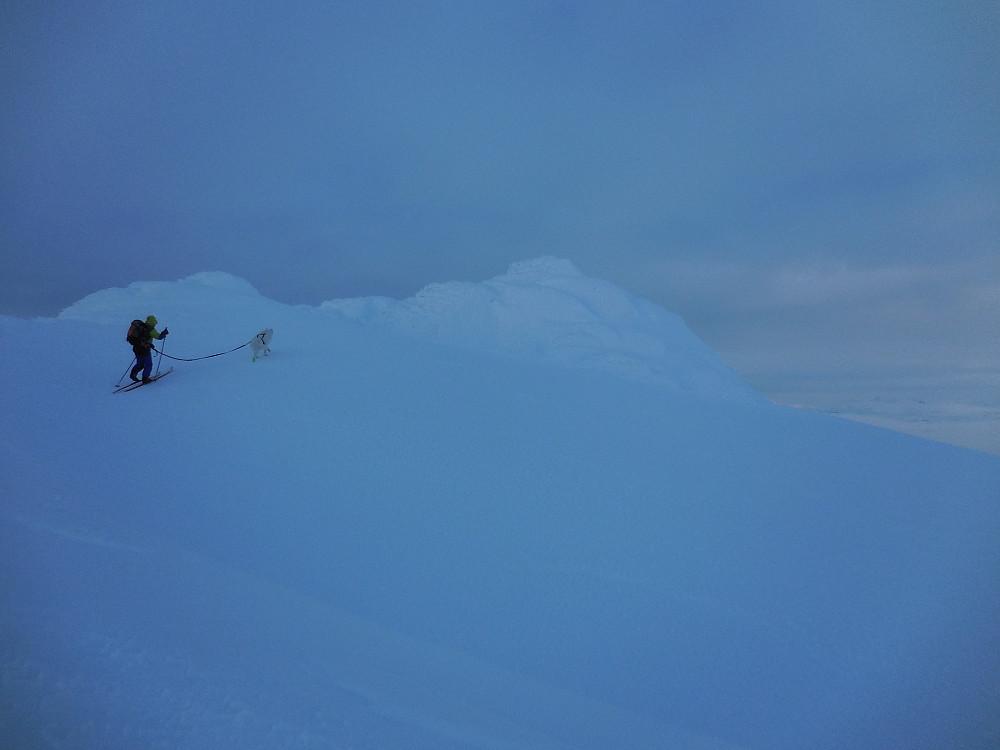Bare noen få meter igjen til høyeste Sulefjellet, 1812 moh.