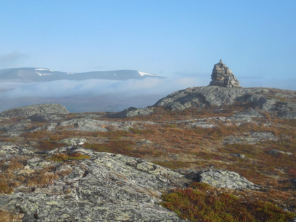 Læshøevarden, 1216 moh. Fjellet bak er Horrungen.