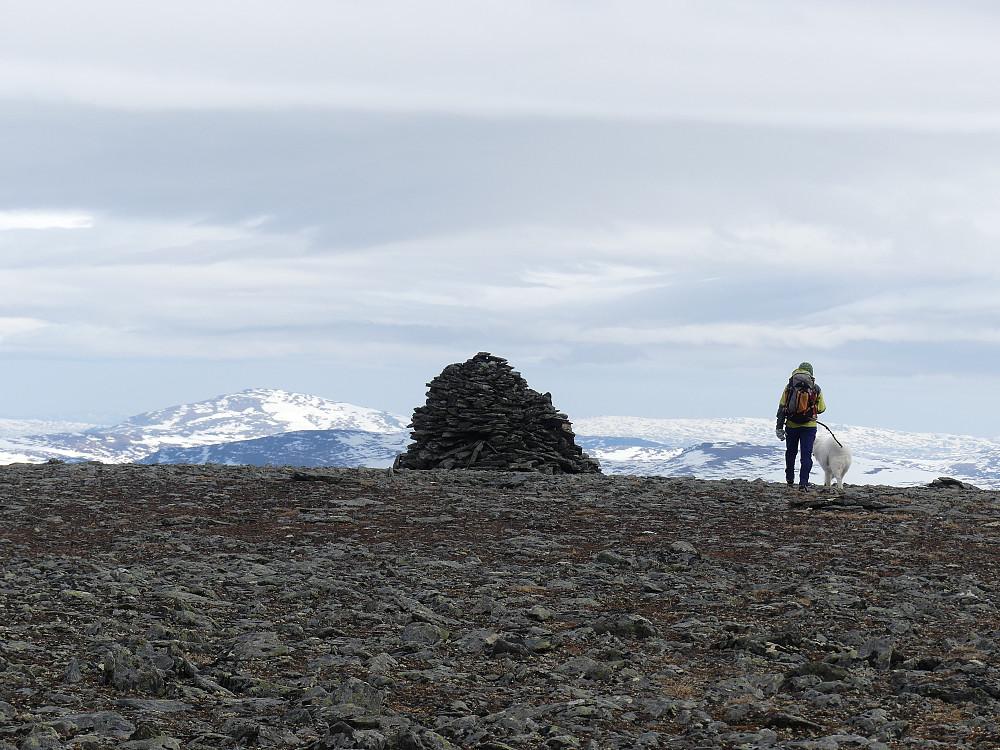 Ved toppvarden på Syndre Knutshøa.