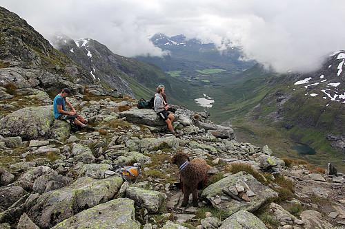 Oppe på bandet - med utsikt mot Honndalen