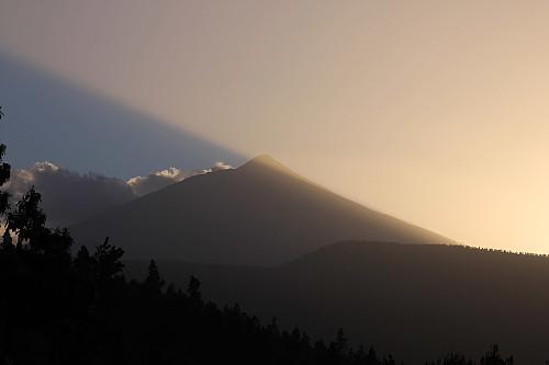 Pico del Teide sett fra hotellrommet vårt