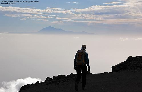 Teide sett fra La Palma i Januar i år