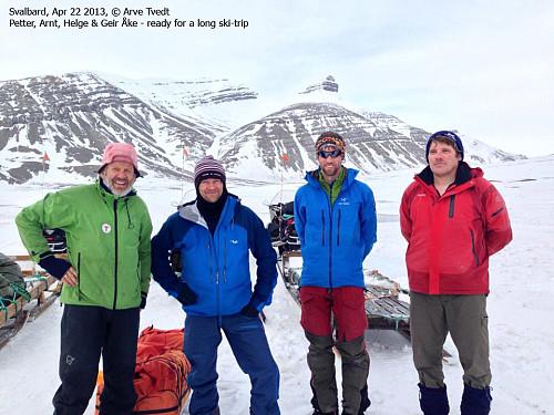 Petter, meg, Helge og Geir Åke