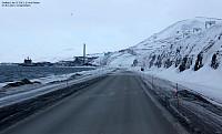 I buss på vei til Longyearbyen...