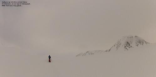 På vei opp mot Trebrepasset - og Planetfjella