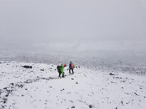 Masse snø hjemover