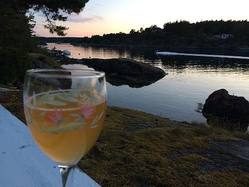 Dagen avsluttes med et sommerglass med øl på Fugløya