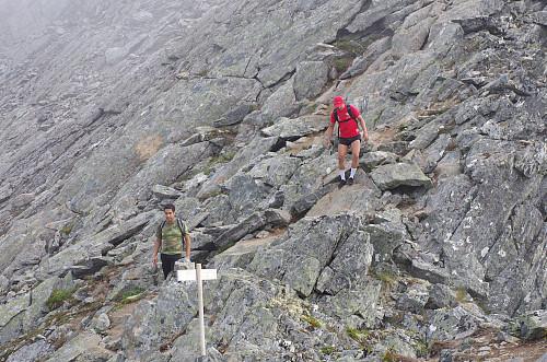 Over Romsdalseggen.