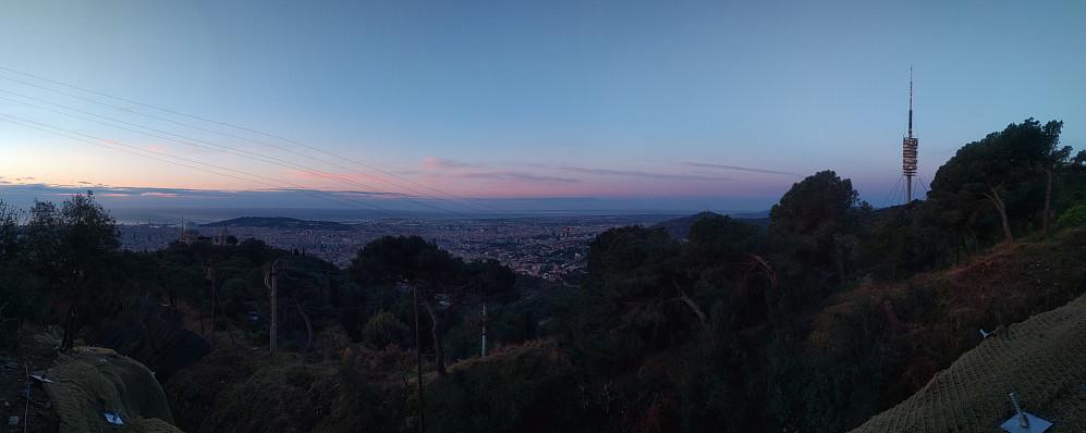 Panorama over Barcelona captured on my way up Mount Tibidabu.