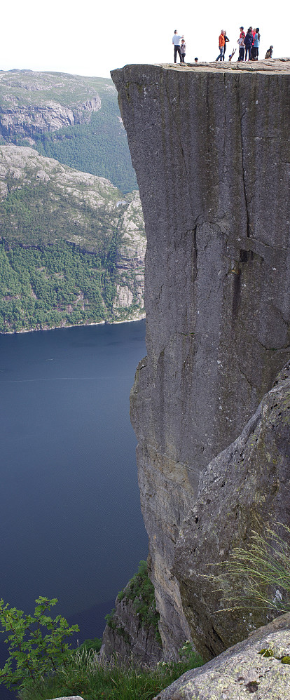 "Image #19: A vertical panorama of ""The Pulpit Rock"" (Norwegian: Preikestolen) made by a photoshop merge of two separate photos shot with my Pentax K5 II with an SMC Pentax-AF 28 mm lens. Camera settings were ISO 200, F11 and 1/60"" for the lower photo and 1/100"" for the upper one."