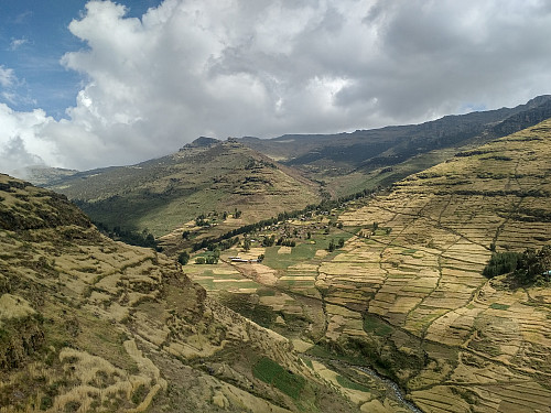 #7: The beautiful agricultural landscape with small villages in between crop fields; the pasture areas being a little bit higher up in the mountain side.