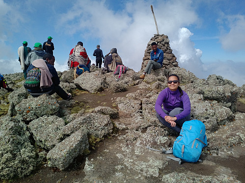 #14: On the summit of Mount Bwahit.