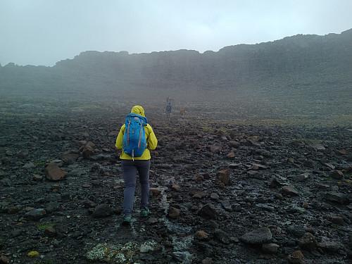 #25: Embarking on the final 170 meters of elevation.