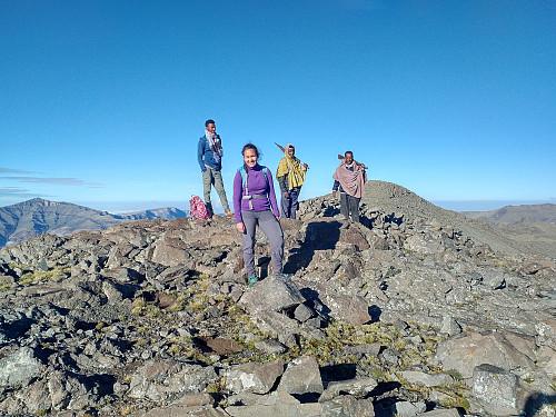 #42: On top of Kidis Yared. The summit is the peak seen about 400 meters behind us.