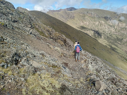 #44: There was a nice trail leading us along the various peaks of Kidis Yared.