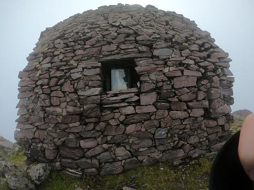 The shrine at the top of Cruach Mhór.