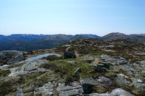 Storlifjellet med rester etter trig-merke