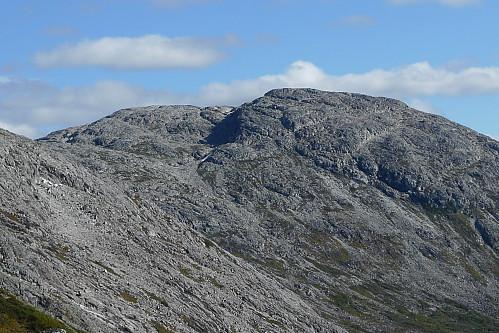 Vest for Stangahøgdi fra vestryggen mot Øvshusnipa