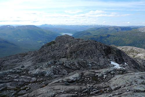 Foto fra Øvsthusnipa mot fortoppen