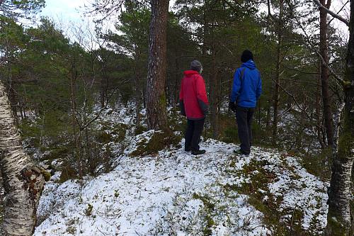 Astrid og Trond på det vestligste topp-punktet på Storåsen
