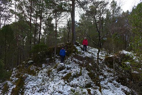 Astrid og Trond ved det vestligste topp-punktet på Storåsen