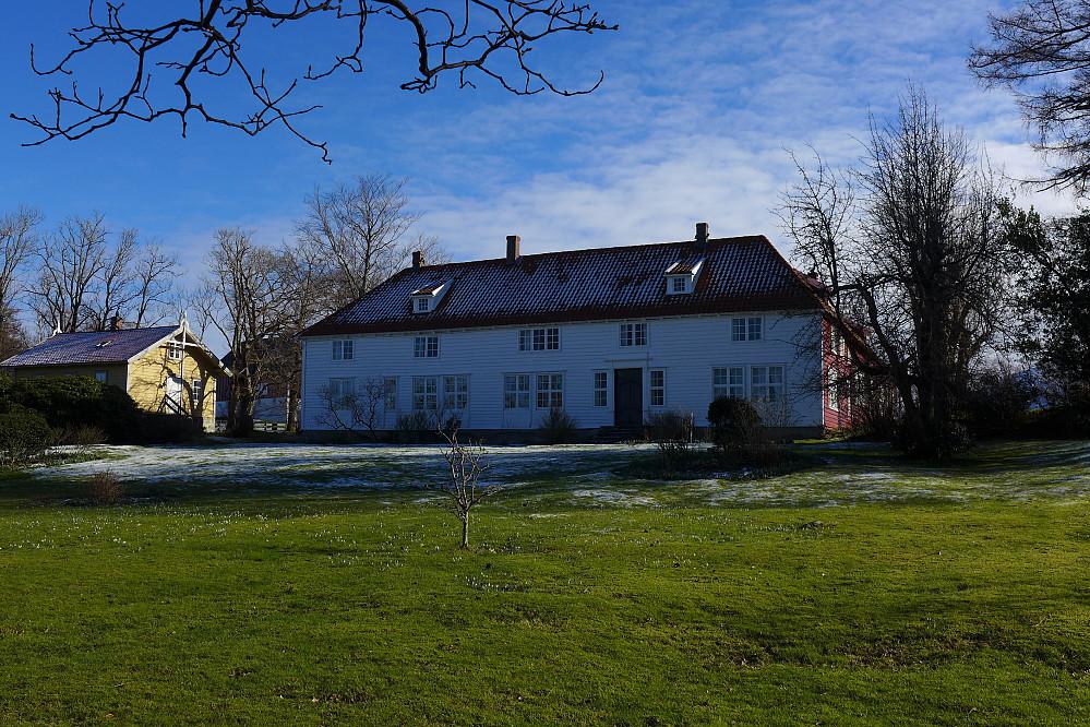 Majestetiske Svanøy Hovedgård fra omkring 1800