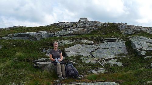Matpause på vestsiden av Skredfjellet