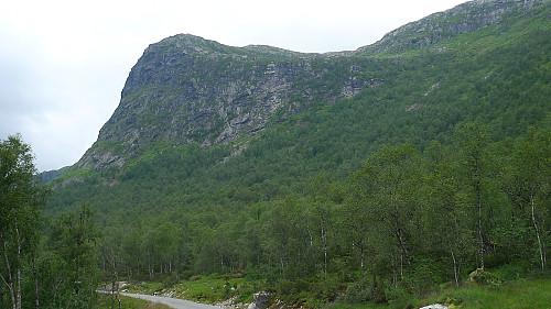 Skredfjellet sett fra sørsiden i Steinsetdalen