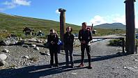 Astrid, Heidi og Jan klar til start i Veodalen