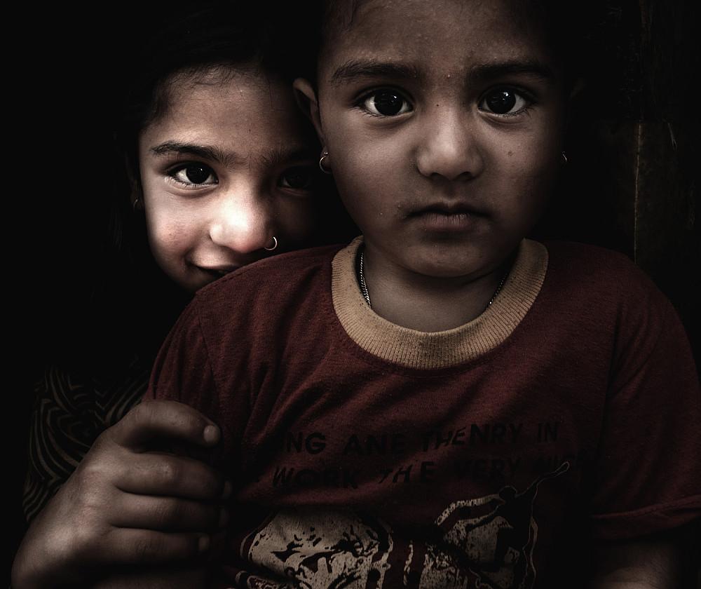 Tibetansk-ættede barn i Dhampus