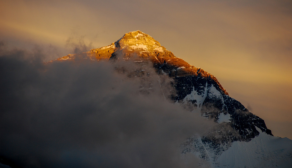 Solnedgang over Everest