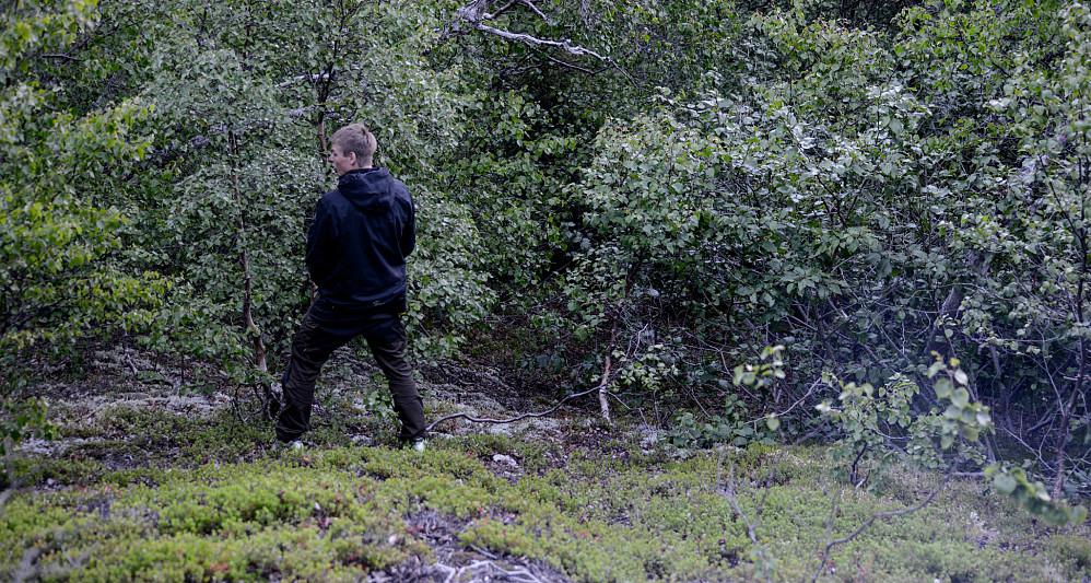 Vegar markerer territoriet vårt ved Camp Valhalla